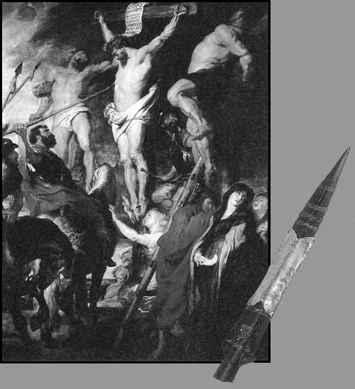 Comme le saint Graal, une intéressante légende est rattachée à la lance de Longinus (en bas à droite)