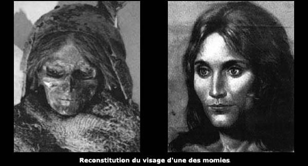 Reconstitution du visage d'une momie blanche