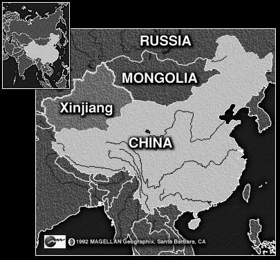 Carte de Xinjiang