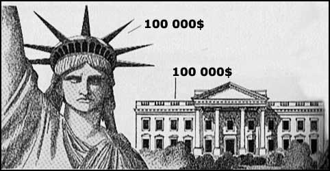 Statue de la liberté et Maison Blanche