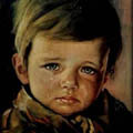 Niño Llorando - the crying boy painting