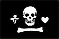 Pavillon du pirate de Stede Bonnet